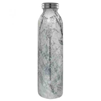Mississippi Valley State University -Vaccum Insulated Water Bottle Tumbler-20 oz.-Marble