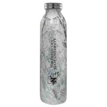 Northwestern State University -Vaccum Insulated Water Bottle Tumbler-20 oz.-Marble