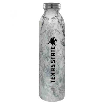 Texas State University -Vaccum Insulated Water Bottle Tumbler-20 oz.-Marble