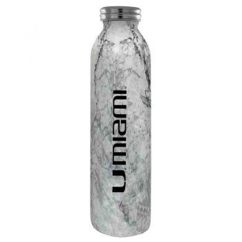 University of Miami -Vaccum Insulated Water Bottle Tumbler-20 oz.-Marble